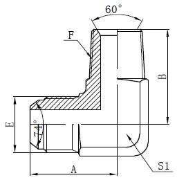 BSPT اتصالات آداپتور مردانه طراحی