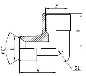 آرنج اتصالات آداپتور BSP آرنج