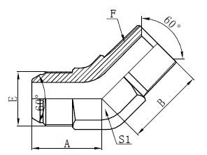 JIS GAS اتصالات اتصال آرنج