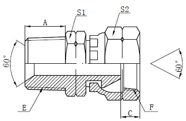 NPSM آداپتور اتصالات طراحی